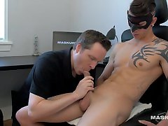 Maskurbate Ripped Marc&039;s Big Cock Devoured at the Office