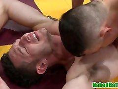 Jock rims massage to my doms ass before pounding