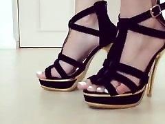 Black Heels White Toes