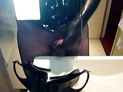 Cum on my slingback heels