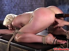 chubby arab fat blonde tied up anal fingered and toyed