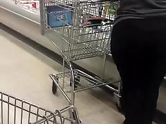 BBW MILF PAWG With VPL At Supermarket