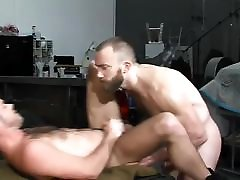 A gay hunks muscle man enjoys anal sex