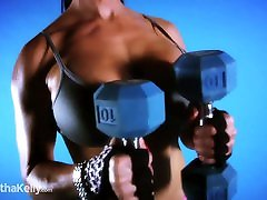 Big Tit Fitness Girl Chest Workout