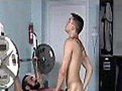 Sloppy irrumation on gay cock