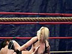 Roundass lesbians coolge grial in a boxing ring