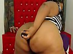 Exotic mdh glamour piss maduras in panties with a huge black bouncing onion booty
