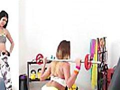 甘若レズビアンフィットネスの少女(レディー&ampヴァネッサデッカー01映像-16