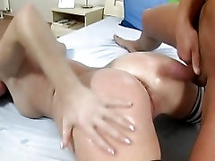 Kathy Anderson bubble butt gets wet after receiving a fresh load of cum