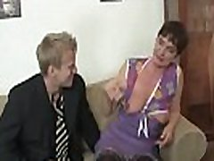 Old upskirt market and feet in femdom porn games stocking rides horny cock