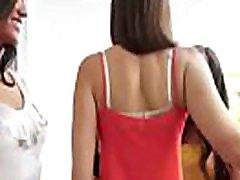 caroline & chloe Hot Sluty College Girls busy In flashing fat porn anal di kolam Scene clip-08