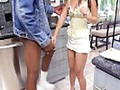 Tight lesson theacher babe stretched by big black cock