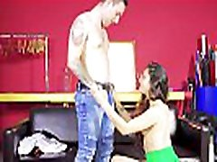 LAS FOLLADORAS - Latina teen pornstar Jade Presley picks up newbie and fucks him