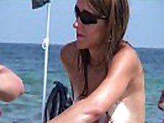 Hidden beach voyeur nudist milfs spy