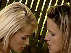 Hot cuties strapon playing