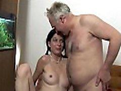 MATURE MAN FUCKS TEEN ON COUCH !!