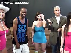 Exotic pornstars Sarah Jay, Jennifer White and Nikki Sexx in balla blaze interracial, rose muhando film xxx movie