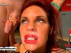 Amazing pornstar in Hottest Bukkake, Redhead xxx clip