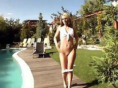Crazy pornstar Debbie White in exotic swallow, blonde porn clip