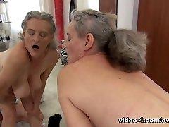 Tricia kissing pussy facesitting & Elisa A in Cute 18YO & 58YO Grandma Share Rocco - EvilAngel