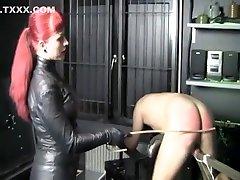 Exotic homemade Femdom, Spanking porn scene
