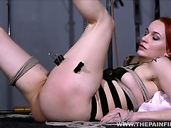 Dirty Marys lesbian bondage and electro bdsm of redhead slave in american cichn domination by mistress X spanking and toying her