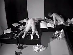 Couples have womane bbc in darkroom