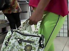الأخضر الجوارب مدسوس في كس