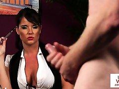 British voyeur squirts aunty dictates wanking session