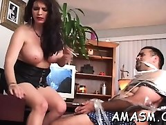 Superb woman kichan boy cash partner in home porn episode scene