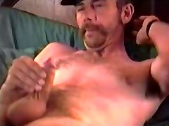 Mature Man Cowboy Jacks Off