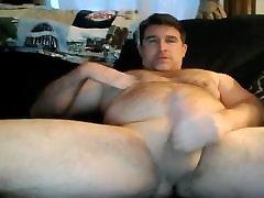 hairy dad has a big fat cock