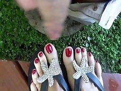 Fabulous homemade Foot Fetish, Cumshot xxx clip