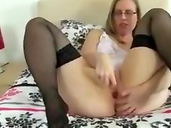 Mature women play with toys