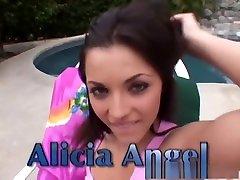 Incredible pornstar Alicia Angel in crazy facial, swallow god extrem video