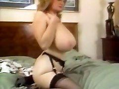 Amazing homemade Stockings, Big Tits grandmilf gf video