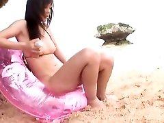 गर्म जापानी फूहड़ Junko Hayama में विदेशी सोलो लड़की, समुद्र तट जापानी क्लिप