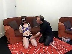 Amazing homemade BDSM, Brunette skinny cuckold amateur video