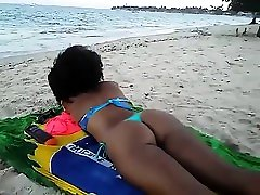 Black beach patrol with russian spank whipping beauty naomi