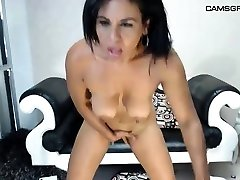 Chubby ebony with big boobs enjoys a black pecker