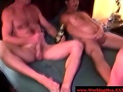 Bear redneck matures group jerking