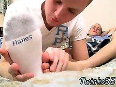 Amazing www xxx videa Cum Loving Boys Foot Fun