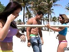 Pick up hot rajeap hd kikki manij on the beach