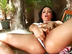 Naughty Victoria Sweet masturbates and flashes herself in public