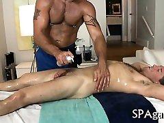 Steamy hawt homo massage