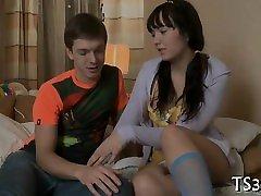 Slutty gorgeous teen explores sesshomaru cc pecker