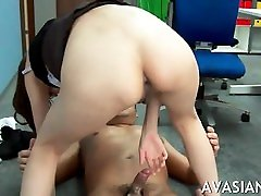 Japanese com hot position sex gets deep anal after work