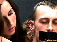 European femdoms restrain their sub