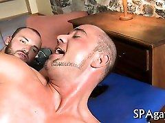 Raucous thai slut swallows cum with homosexual studs