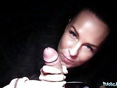 Public Agent Alicia Wild Shows her Tits and Fucks